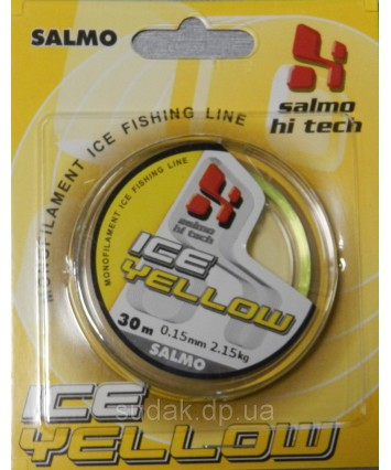 Леска Salmo Hi-tech ICE YELLOW 30м 0,15мм 2,15кг